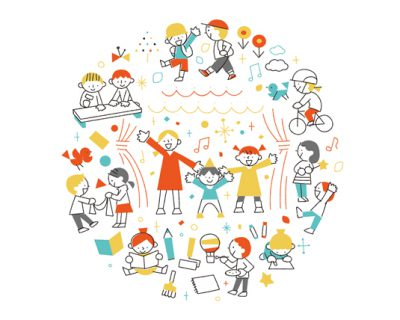 遊びと学びのコミュニティスクール ビジュアル